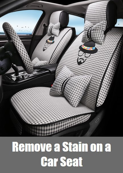 How to Remove a Stain on a Fabric Car Seat