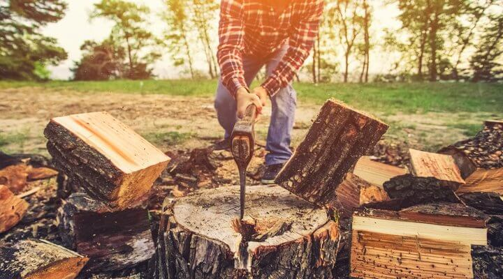 How to Split Firewood with An Axe (Tips and Tricks)