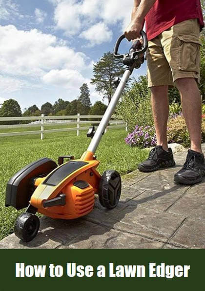 Using guide a Lawn Edger